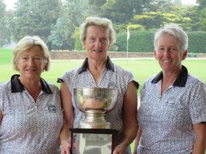 Mansfield Bowl winners. Andrea Marsden, Marg Franke-Williams & Patsy Smiles