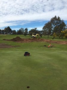 The old 16th green goes to make way for a new green