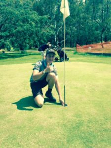 Oli Pearson scored his first Hole-in-One at the 16th hole Thursday